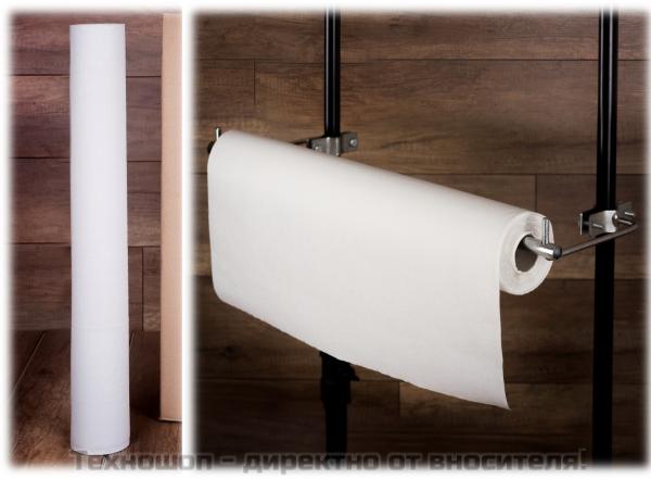 Еднократен чаршаф с фолио на ролка 60 см / 50 м